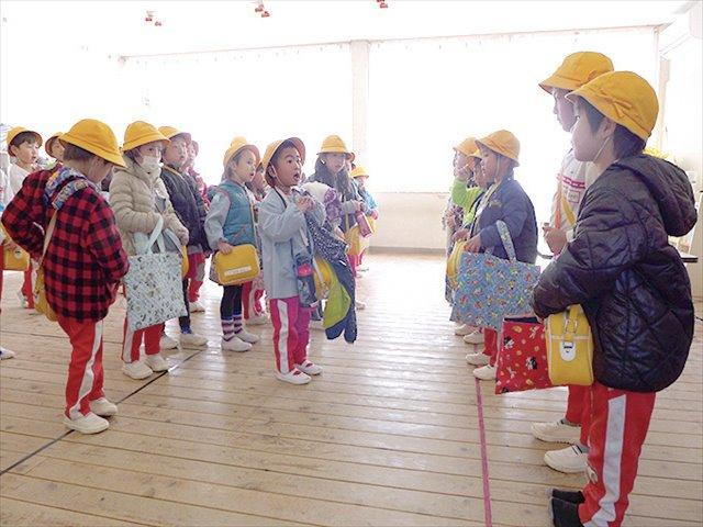 河輪幼稚園幼稚園 そろそろ降園の時間
