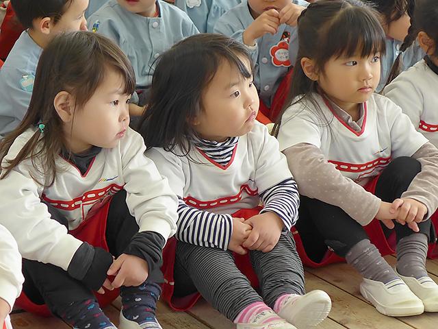 河輪幼稚園の教育方針 我慢強く、おしまいまでやり遂げることができる子に。