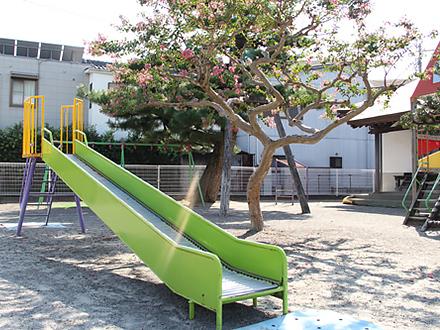河輪幼稚園の園庭